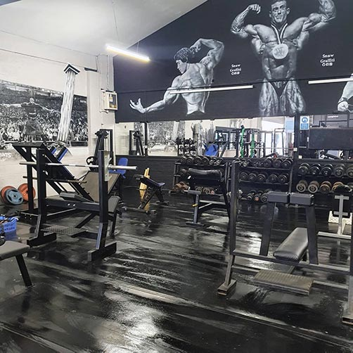Workout equipment inside our Ashton-in-Makerfield gym