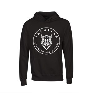 VSF logo hoodie in black and white