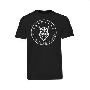 VSF logo T-shirt in black and white